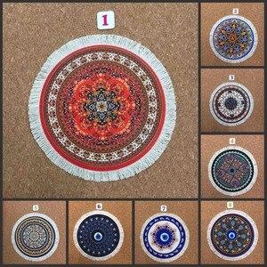 Mairuige 220*220 мм красочный ковер в персидском стиле круглый коврик для мыши ковер офисный семейный подарок кисточки коврик для мыши игровой ков...