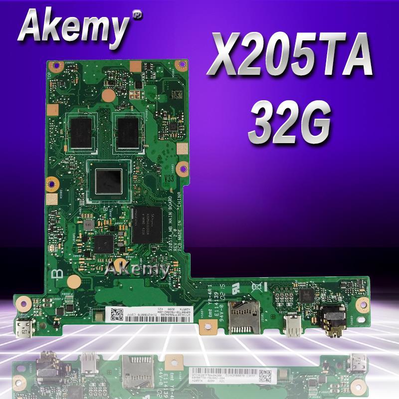 Akemy X205TA Laptop motherboard for ASUS X205TA X205TAW X205T X205 Test original mainboard X205TA X205TAW 32G