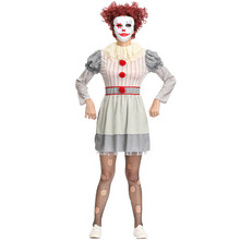 New Clown Costume Cosplay For Women Adult Movie Payday Halloween Carnival Party Suit
