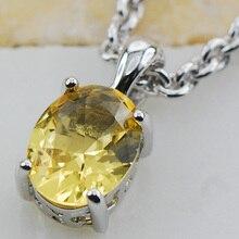 Желтый Кристалл Циркон Стерлингового Серебра 925 Стад Кулон PP10 Этот пункт Минимальный заказ составляет $10 Кристалл CZ Циркон