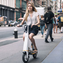 Folding Electric Scooter with seat for adults Foldable Electirc Bicycle Hoverboard Skateboard with Bluetooth GPS and Mobile APP