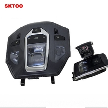 SKTOO for Peugeot 508 DS5 / 6 front and rear dome light control panel LED reading car interior