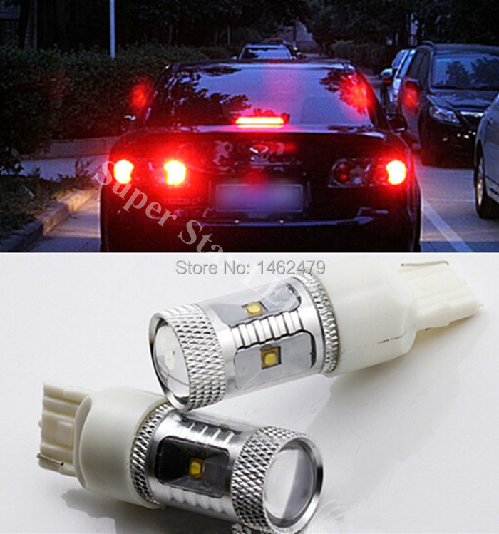 Pair Led Brake Lamp Tail Backup Bulb Light T20 W21 5w 7443 Fit For Mazda