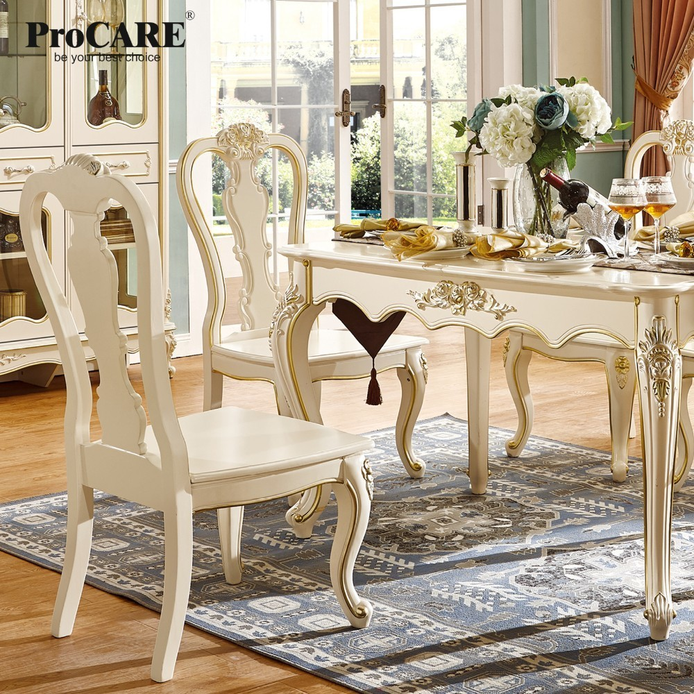 luxury European and American style furniture dining room furniture set marble square dining table