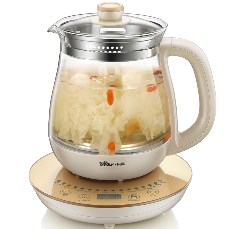 Bear 220V 16 Function Health Pot Full Automatic Multifunctional Thickening Glass Electric Boiling Teapot bear 220v electric kettle multifunctional health preserving pot decocting of tea glass thickened kettles