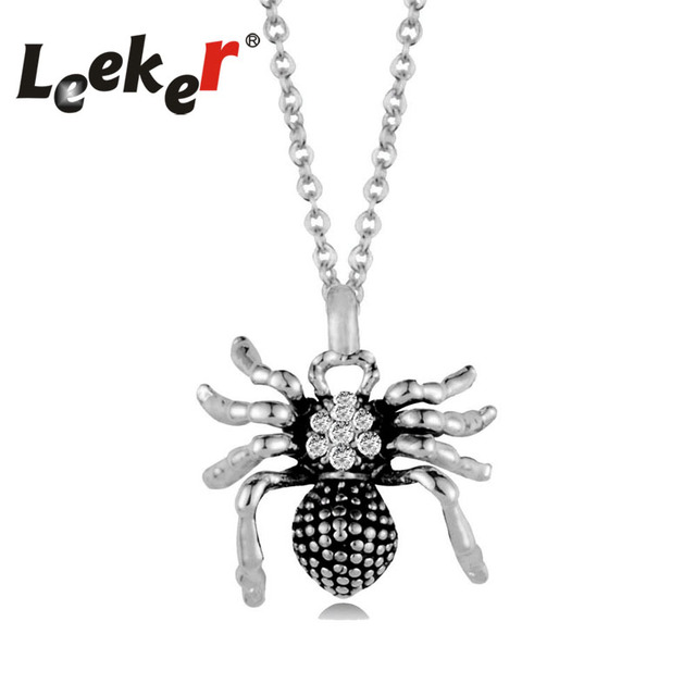 Leeker vintage jewelry rhinestone animal spider pendant necklace leeker vintage jewelry rhinestone animal spider pendant necklace silver color chain women best gifts 94700 lk11 aloadofball Image collections