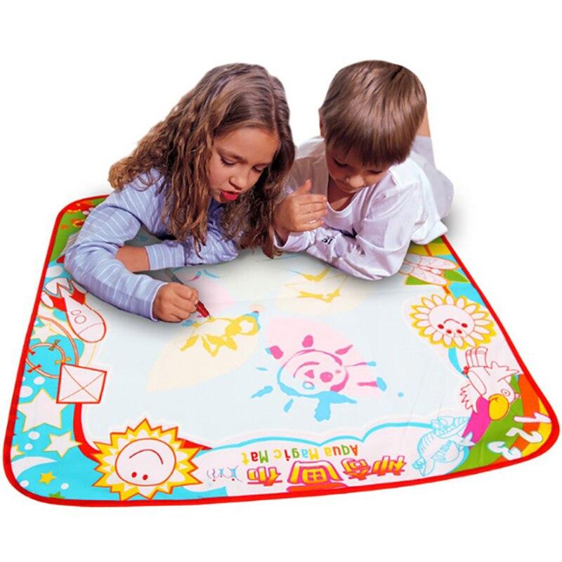 MUQQ картина игрушки Baby Дети Волшебное перо Вода Рисование игровой коврик доска Рождественский подарок для детей 80x60 см бесплатная доставка