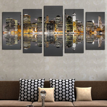2017 Hot Sales Without Frame 5 Panels Picture New York City HD Canvas Print Painting Artwork Wall Art painting Wholesale
