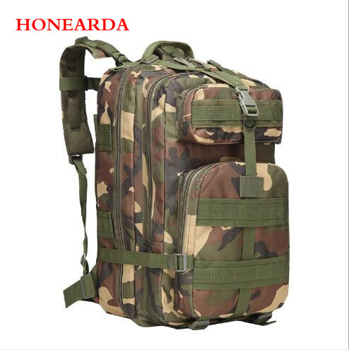 50pcs/lot Sports Outdoor Hiking Travel Backpack Camping Camouflage Bag Tactical Backpack 45L Large 3P Backpack