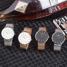 Новинка, роскошные женские часы, ультра тонкий стальной ремень, мужские и женские Универсальные часы, женские модные наручные часы, Relogio Feminino