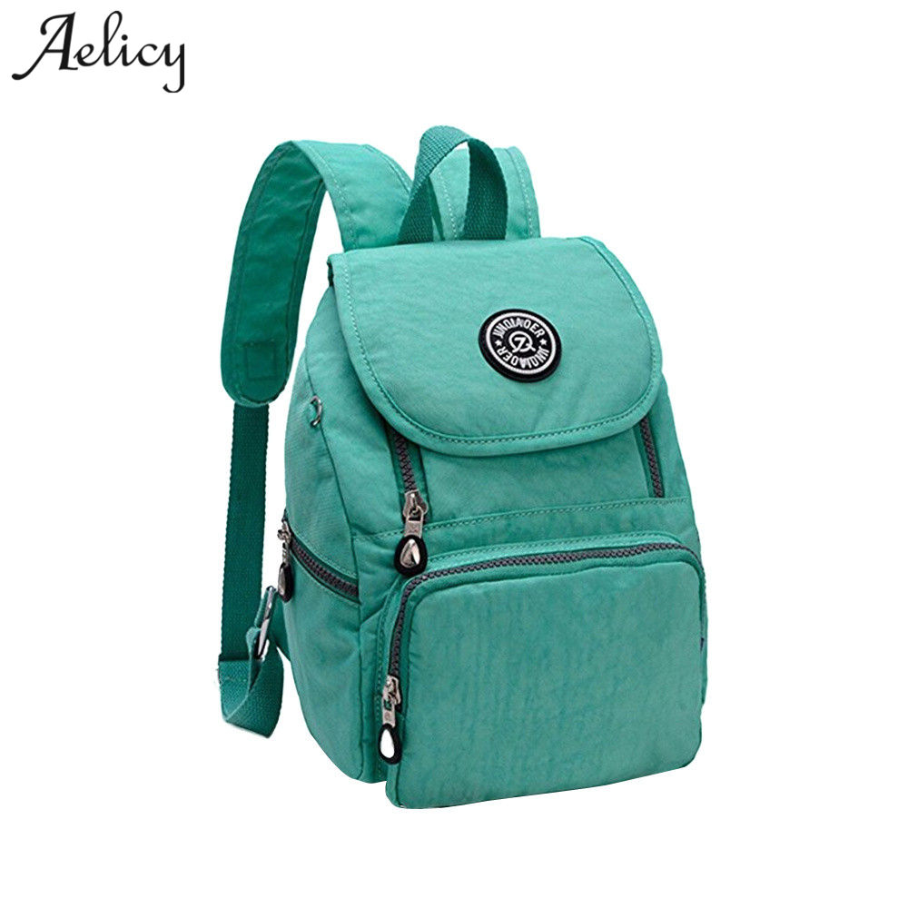 Aelicy nylon woman backpacks solid women laptop backpacks large capacity casual female backpacks for Teenage Girls 1114Aelicy nylon woman backpacks solid women laptop backpacks large capacity casual female backpacks for Teenage Girls 1114