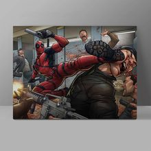 Deadpool Is A Brutal Killer Wall Pictures Superhero Comics Canvas Painting Super Hero Manga Office HD Print Hanging Painting футболка print bar brutal