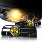 2Pcs Car Front Grille LED Yellow Fog Light Lamp Lower Grill for VW Golf MK4 GTI TDI 1998 1999 2000 2001 2002 2003 2004