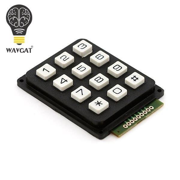 WAVGAT 12 Key Membrane Switch Keypad 4 x 3 Matrix Array Matrix keyboard membrane switch keypad