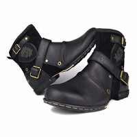 OTTO ZONE männer Herbst/Winter Schuhe Stiefel Echte Kuh Leder High Top Stiefeletten Baumwolle Gepolsterte Leder schuhe Größe EU 39-46