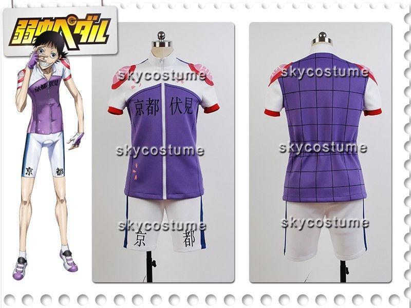 Yowamushi Pedal Kyoto Fushimi Akira Midousuji Racing Suit Cosplay Costume