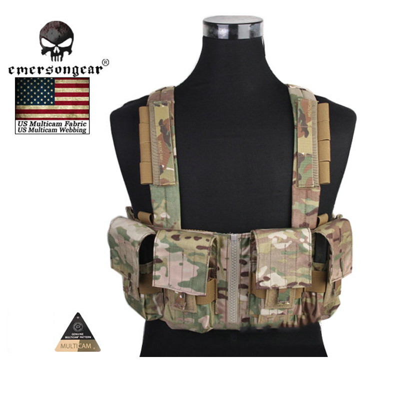 EMERSONgear Chest Rig Multicam Vest Airsoft Painball Military Army Combat Gear EM2978 MC/AOR1/AOR2/ smc type pneumatic solenoid valve sy5120 2dzd 01