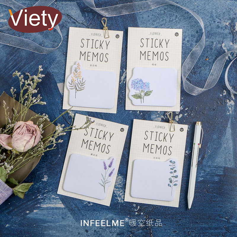 Fresh plants Flowers student memo pad planner sticky note paper sticker kawaii stationery pepalaria office 30 pages