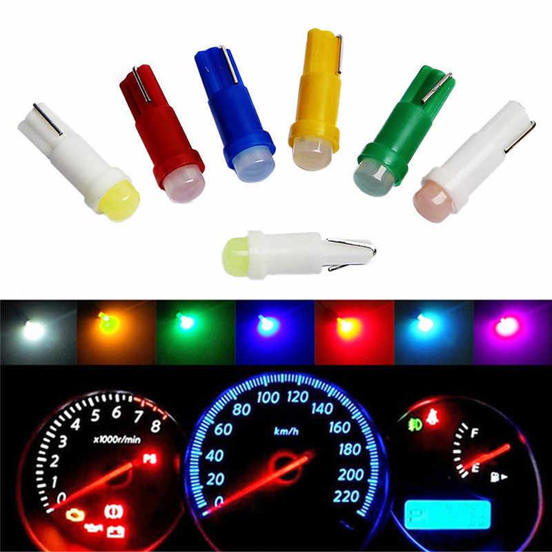 10 Pcs LED Cahaya Alat Indikator Bulb Aksesoris Mobil Lampu Hangat Kendaraan Lampu LED T5 1SMD Mobil Tongkol Lampu Kontrol dropship