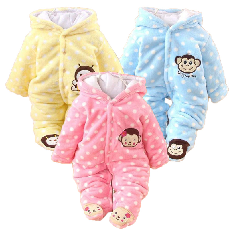 KAVKAS Winter Baby Rompers Cartoon Baby Boy Clothes Cotton Baby Girl Clothes Newborn Baby Clothes Roupas Bebe Infant Jumpsuits