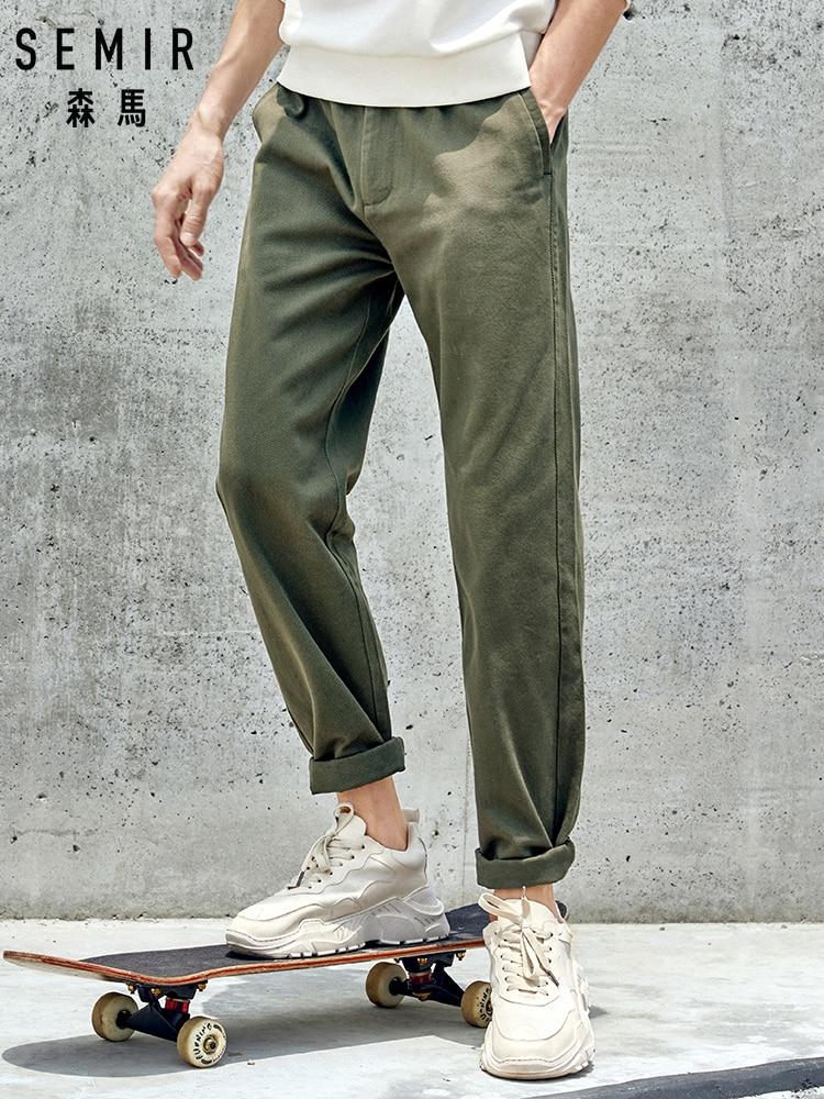 SEMIR Casual Pants Men 2019 New Autumn Trend Loose Straight Men's Pants Black Trousers Students Korean Version Pants