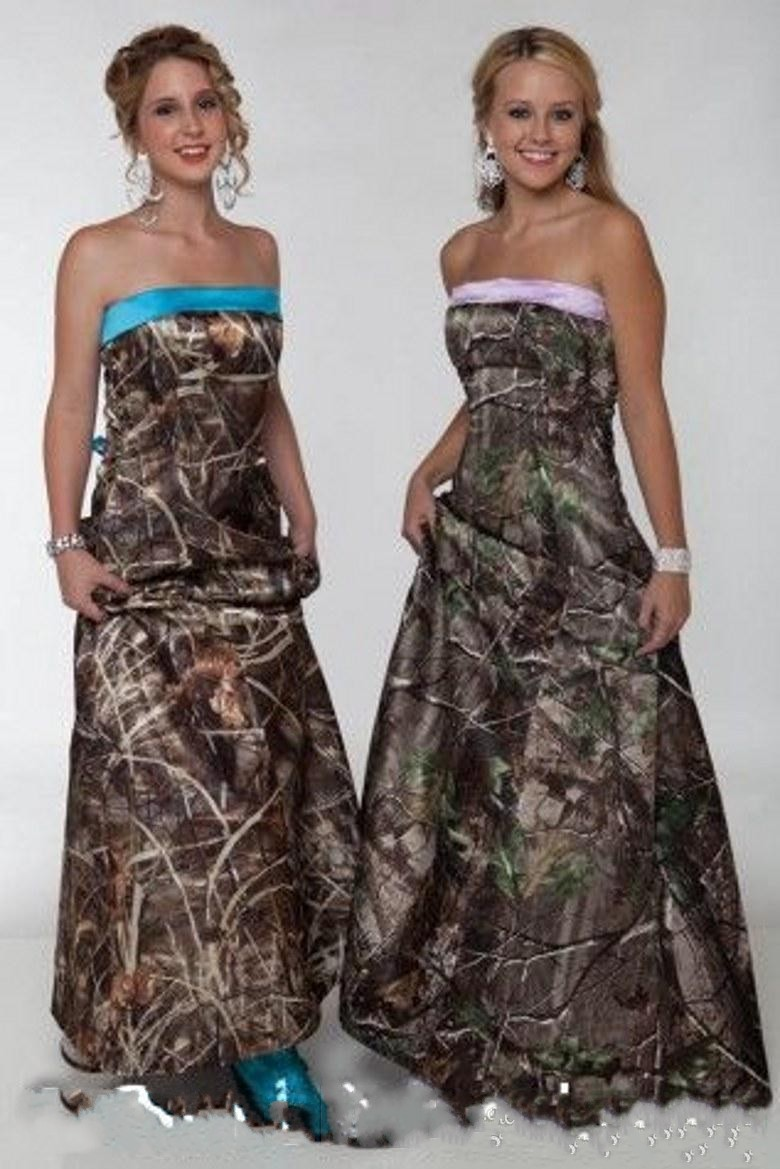 Online get cheap camo bridesmaid dresses long aliexpress 2015 long camo bridesmaid dresses sexy a line strapless lace up pleats floor length custom country ombrellifo Gallery