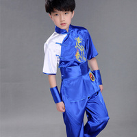Children Chinese Traditional Wushu Costume Martial Arts Uniform Kung Fu Suit Boys Girls Stage Performance Clothing