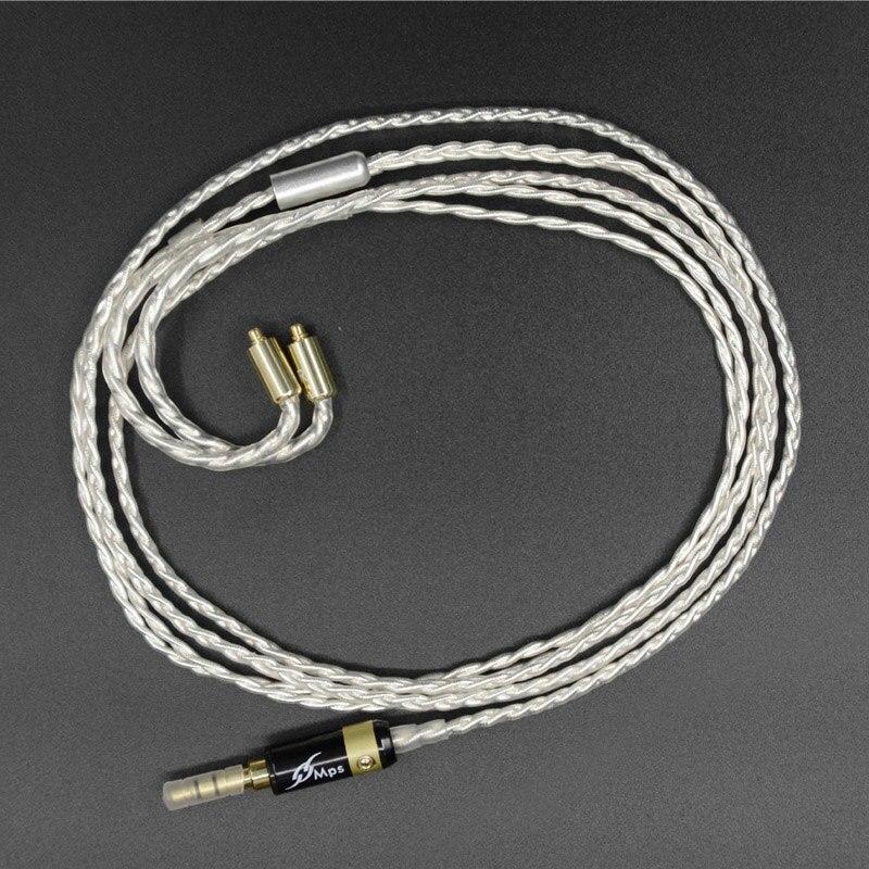 bilder für Hohe qualität nicehck benutzerdefinierte 7n sterling silber kopfhörer upgrade kabel für shure se535 se315/215 se425/846 ue900 freies verschiffen