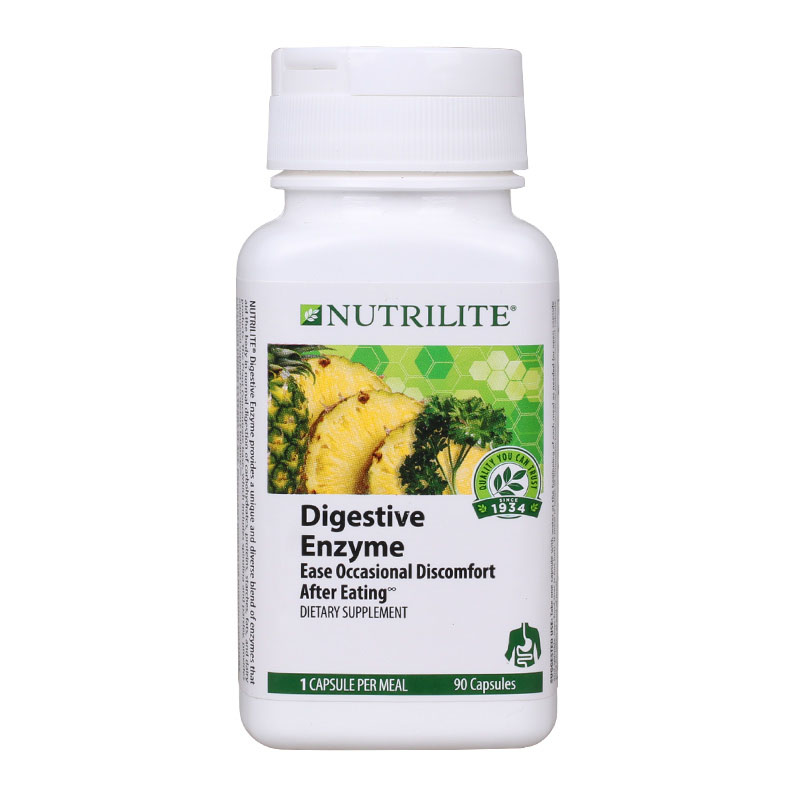 Digestive Enzyme Ease Occasional Dissomfort After Eating 90 capsules Free shipping now foods candida support 90 veg capsules free shipping