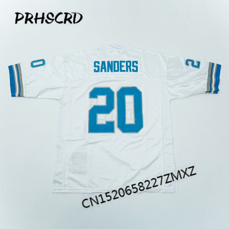new style 7d4b5 4f252 Retro star #20 Barry Sanders Embroidered Throwback Football Jersey-in  America Football Jerseys from Sports & Entertainment on Aliexpress.com |  Alibaba ...