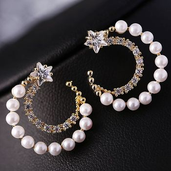 Women's Drop Crystal Earrings Earrings Jewelry Women Jewelry Metal Color: E015 White