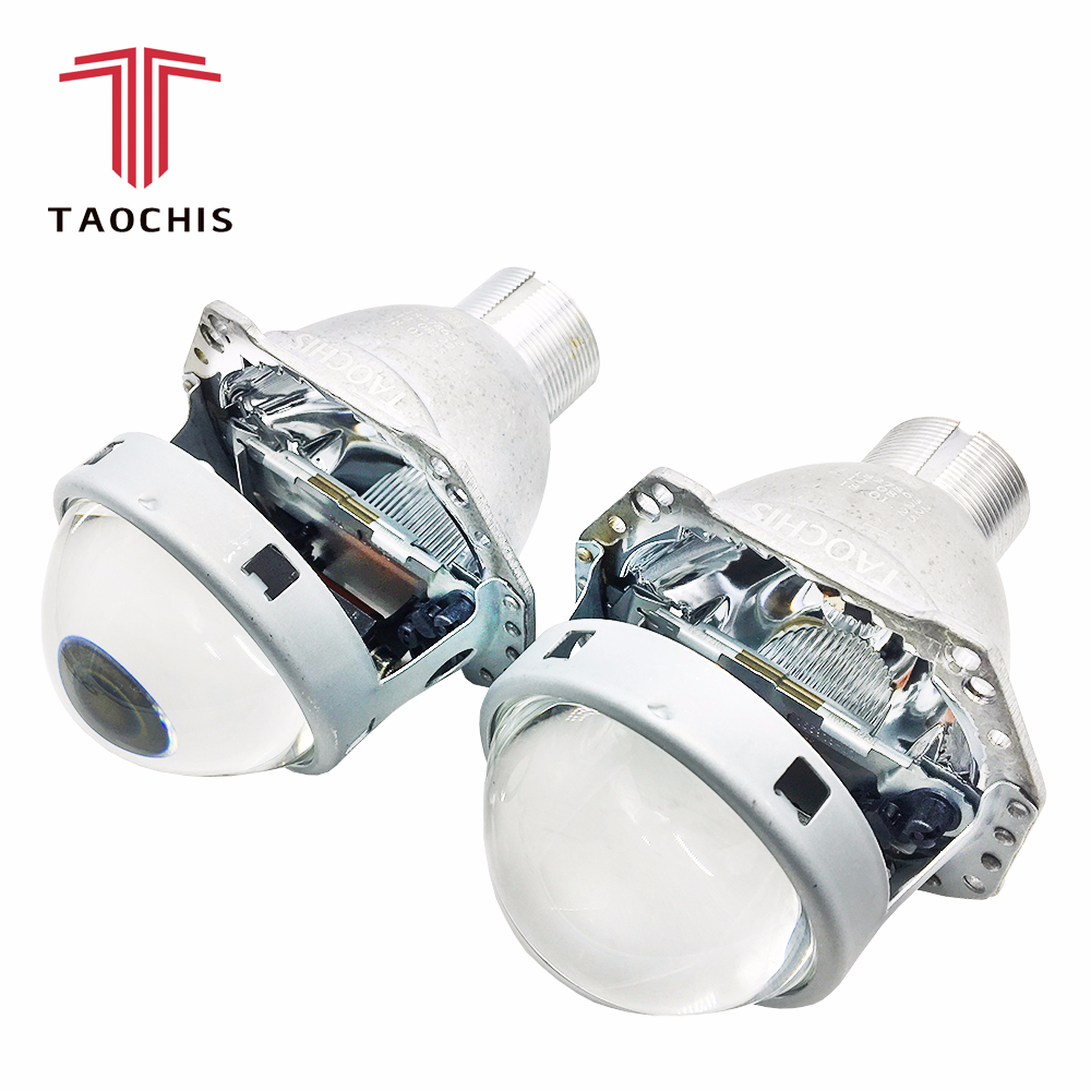 TAOCHIS phare de voiture 3.0 pouces objectif de projecteur bi xénon remplacer 3R G5 HELLA H4 installation Sans Perte Non-destructive