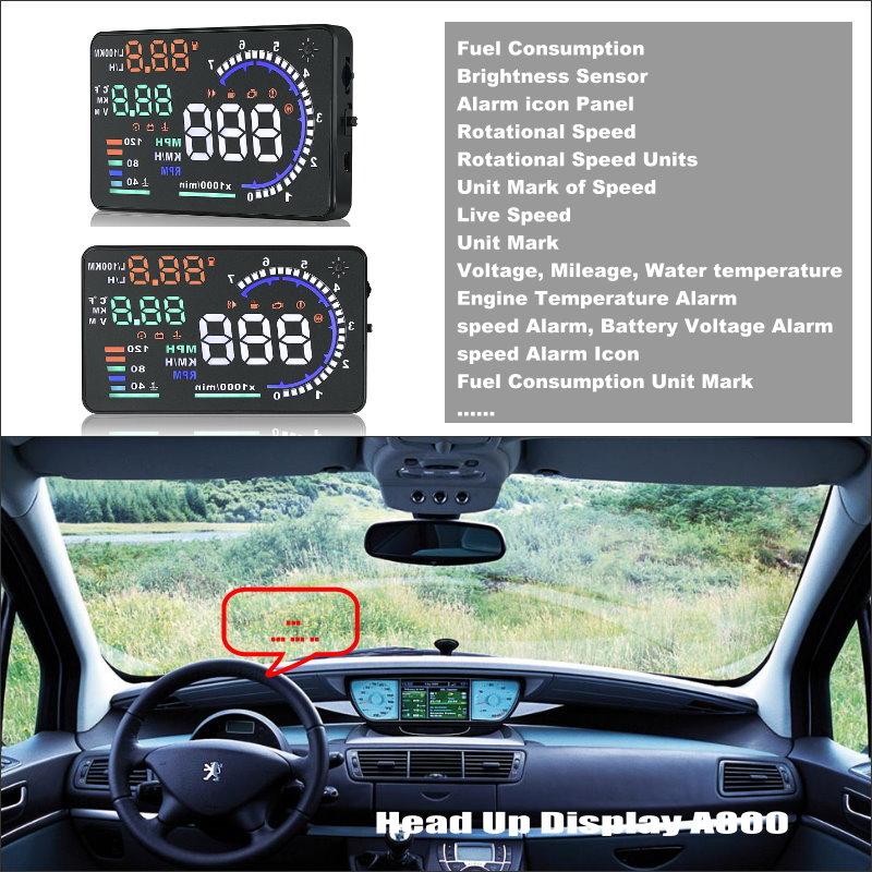 Liislee HUD Дисплей с безопасным приводом для Peugeot 607/806/807 Eurovans-Refkecting лобовое стекло дисплей экран проектор