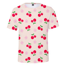 Men and Women Short-sleeved T-shirt Lovers 3D Fruit Print Harajuku Style Casual