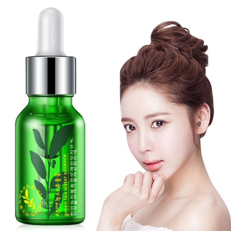 Face Green Tea Seed Serum Anti-Wrinkle Anti Aging Blemish Skin Care Collagen Essence Moisture Liquid S8 T3