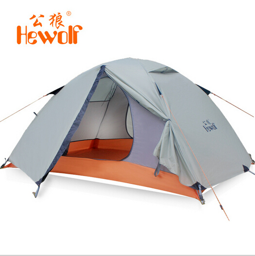 Hewolf Outdoor Double Layer Tent C&ing Tent for 2 person tent tourist waterproof gazebo canopy gl&ing  sc 1 st  AliExpress.com & Hewolf Outdoor Double Layer Tent Camping Tent for 2 person tent ...