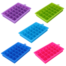 24 Grid DIY Creative Big Ice Cube Mold Square Shape Silicone Tray Fruit Maker Bar Kitchen Accessories 5 Colors