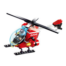 91 Pcs Fire Helicopter Car DIY Creative Brick Toys For Child Educational Building Block Bulk Bricks Children Toy lepin
