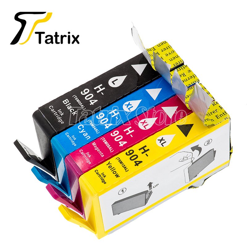 Tatrix 4PK For HP904 904XL 904 Full Remanufactured Ink Cartridge Compatible For HP OfficeJet Pro 6960 6970 Impressora Printer tatrix for hp 903xl ink cartridge for hp officejet pro 6960 6961 6963 6964 6965 6966 6968 6970 6971 6974 6975 6976 6978 6979