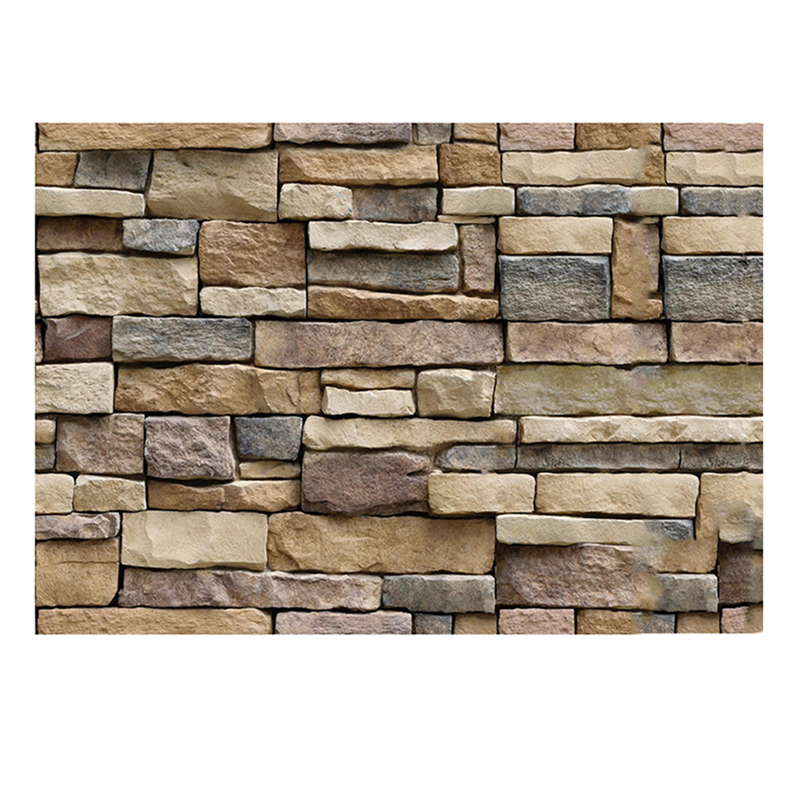 45x100cm 3d decorative wall decals brick stone rustic self adhesive wall sticker home decor. Black Bedroom Furniture Sets. Home Design Ideas