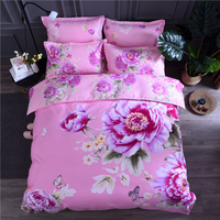 New printed bedspreads Quilted Quilt 2pcs Pillowcase King Queen Full Size Duvet Cover Bedlinens Bedding Decortion 4pcs/set