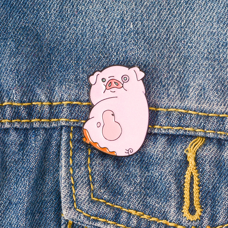 Arts,crafts & Sewing Funny Frog Expression Brooches Jeans T-shirt Handbag Cartoon Animal Alloy Brooch Metal Badges On Backpack