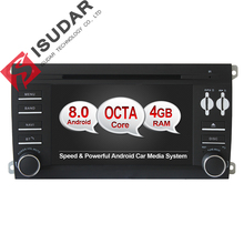 Android 8.0 Two Din 7 Inch Car DVD Player Stereo System For Porsche/Cayenne With Octa Cores 4GB RAM Wifi GPS Navigation Radio