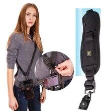 Multifuncional Ombro Único Sling Belt Cinta para DSLR Câmera Digital SLR Rápida Rápida Cinta De Fixação de Ajuste para a Câmera