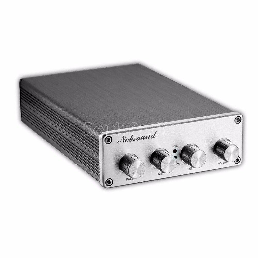 Préamplificateur Audio HiFi Nobsound contrôleur de tonalité aigus/moyens/graves NE5532 * 2/OPA2604 LME49720/TDA8920 * 2
