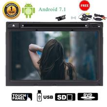 Android 7.1 Car Stereo GPS Navigation in center console Radio Audio Wifi FM 1080P Video sd USB Mirror link for Hyundai+camera