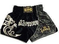 Pantalones cortos de muay thai kick boxing cortos mma lucha adultos troncos muay tailandeses pantalones cortos mma combat sport pantalones Negro Rojo de plata para los hombres mujeres
