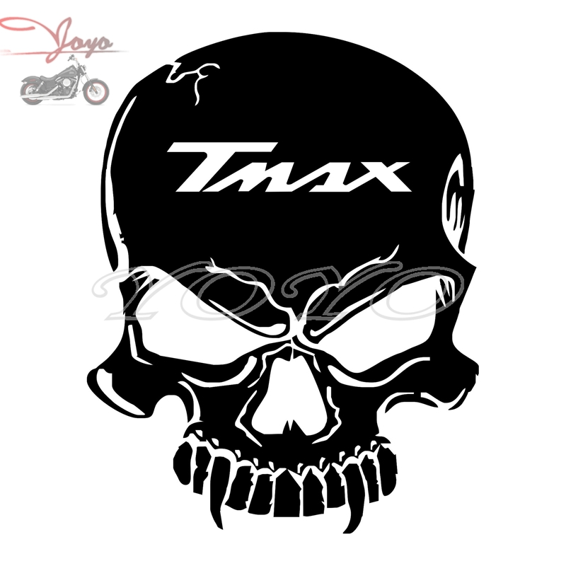 Free shipping TMAX logo skull adhesive sticker decal fairing stickers for T-MAX TMAX 500 530 XP500 XP530