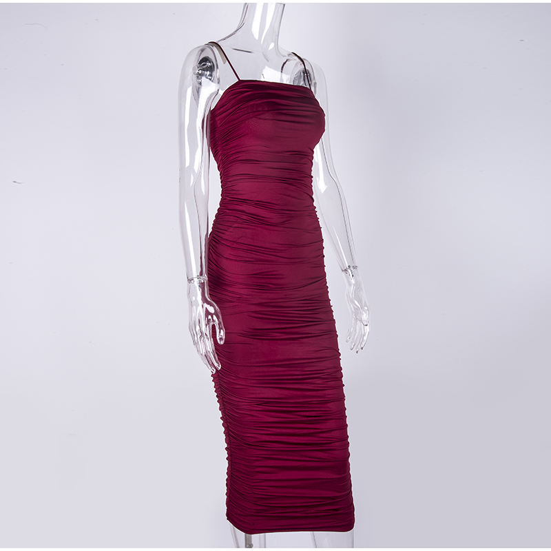 HTB1zQKSXAH0gK0jSZFNq6xMqXXaE - NewAsia 2 Layers White Summer Dress Women 2020 Elegant Straps Ruched Maxi Dress Pink Long Dress Sexy Dresses Party Night Robe