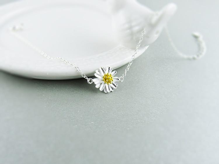 AKOLION Silver Cherry Blossoms Bracelets Charm Flower Bracelets 925 Sterling Jewelry For Girl Women 17